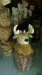 Get your christmas gift chainsaw carving order in before the